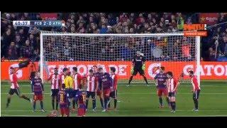 Штрафной месси в маче  Барселона Атлетик Бильбао