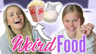 TRYING WEIRD FOOD COMBINATIONS WITH MY SISTER!