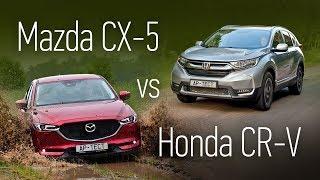 Mazda CX-5 или Honda CR-V? Сравнительный тест на асфальте и бездорожье