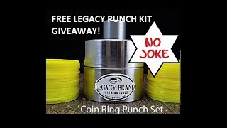 #001 Free Giveaway & Open Box Review - MEGA Coin Ring Punch and Spacer Set