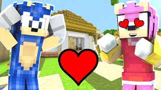 Minecraft Sonic The Hedgehog 2 - Amy Rose Falls In Love With Sonic! [8]