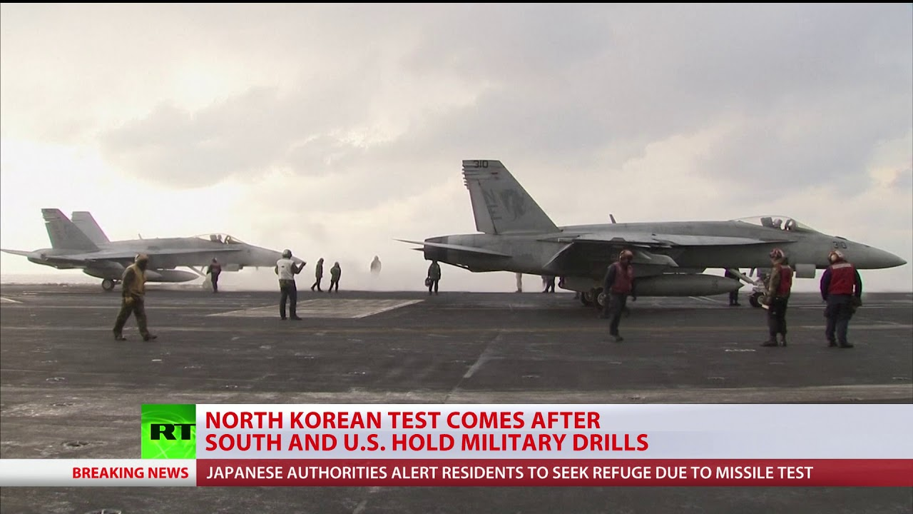 North Korea launches missile towards North-Eastern Japan after S. Korean-US drills
