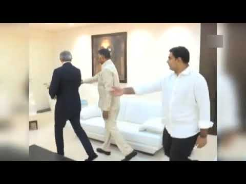 Former UK PM Tony Blair meets AP CM Chandrababu Naidu in Amaravati