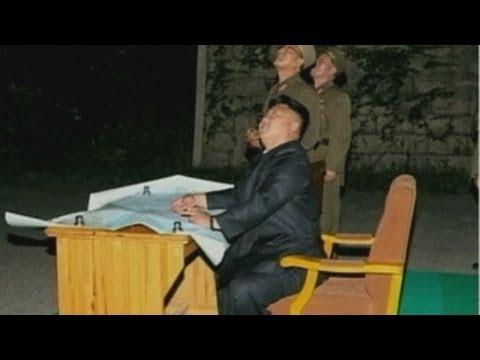 North Korea: Kim Jong-un pictured watching rocket launch