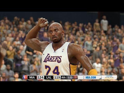 NBA 2K17 - 09-10 Lakers vs 11-12 Heat - Kobe Bryant/LeBron James - Community Request - PC MOD - HD