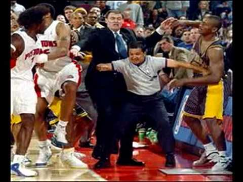 Throwback Music circa 2004 www.4IZE.com The Pacers-Pistons brawl (also