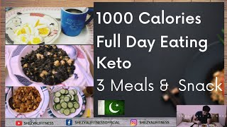 1000 Calories Keto| Full Day of Eating| 3 Meals + Snack| 1000 to 1800 Calories Series Episode 1