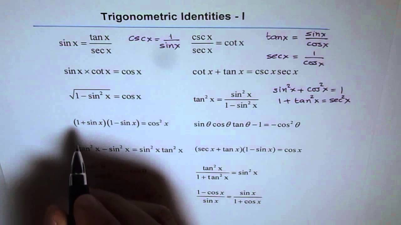 Trigonometric Identities Worksheet 1 - YouTube