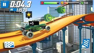 Hot Wheel Race Off - Wheelie Jump Green Car | Woof Wolf Kids Gaming #2