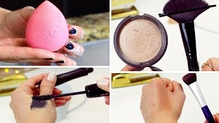 5 BEAUTY HACKS EVERY GIRL SHOULD KNOW | How to Fix Old Mascara, DIY Contour Brush & More!