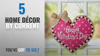 "Top 10 Home Décor By Current [ Winter 2018 ]: Valentine's Day Door Decor Burlap Heart Hanging- 13"""