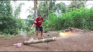 A Day of Explosions - The Filipino Bamboo Cannon (Lantaka)