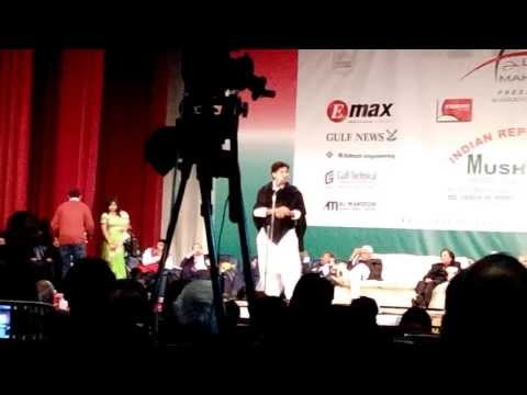 Imran Pratapgarhi In Dubai Mushaira 2014 (by:thapa video