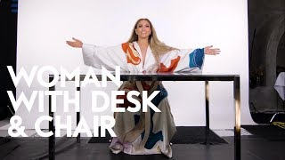Jennifer Lopez's Guide to Reinventing Yourself   Woman with Desk and Chair   InStyle