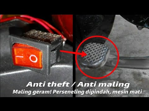 How to make anti theft device in your bike by using switch indicator gear
