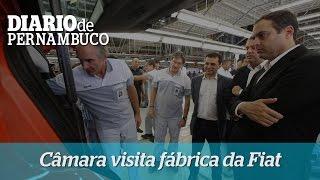 Paulo C�mara visita f�brica da Fiat em Goiana