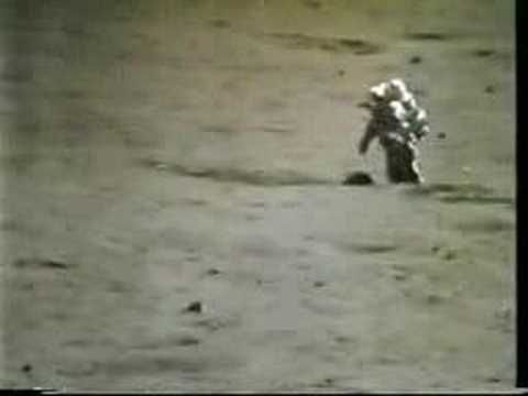 Kicking rock downhill on the Moon