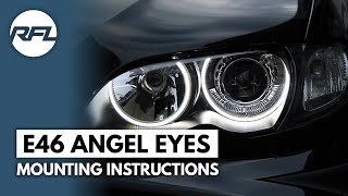 BMW 3 serie E46 Led Angel dimmable eyes mounting instructions