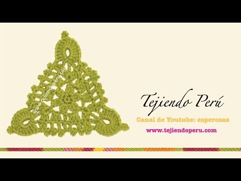 Pastillas triangulares tejidas a crochet: unión rectangular (bufanda!) o circular