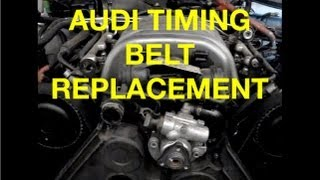 Mechanic School: HOW TO replace a Audi A6 3.0L Timing Belt