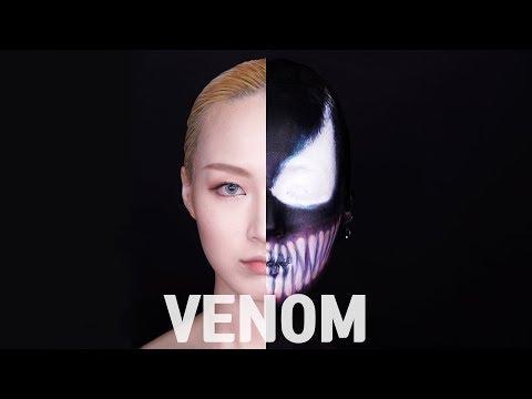 [베놈] 메이크업 제품으로도 할로윈 분장 할수있어요! Venom cover makeup