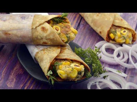 Potato and Corn Rolls recipe by Tarla Dalal