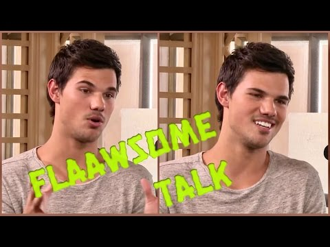Taylor Lautner talking muscles and girls