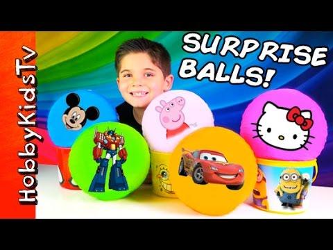Surprise Balls! Toy Eggs, Blind Boxes: Minecraft + Funko Toy Story Hobbykidstv video