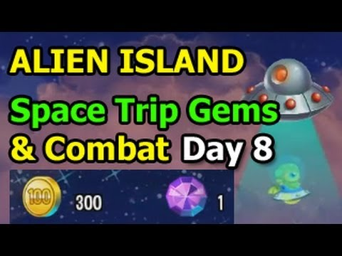 Dragon City ALIEN ISLAND Space Trip and Combat Dragon Day 8