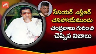 Senior NTR Last Words About Chandrababu | Sr NTR Last Night | Facts About Sr NTR Life