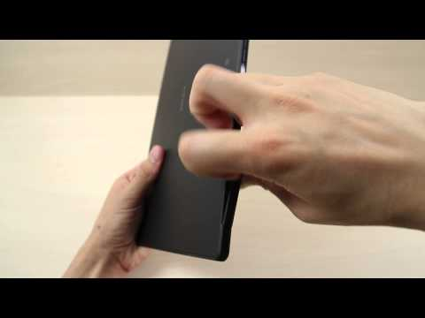 How to insert and remove the Micro SD card on Sony Xperia Tablet Z