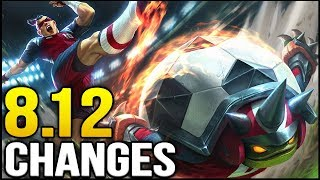 New changes coming soon in Patch 8.12 (League of Legends)