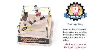 Boxing Ring Tin Toy Wind Up