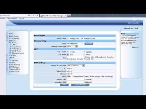 Configuración COM - 817 / Repetidor / Cambiar nombre de red / Asignar contraseña