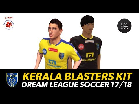 How to get Kerala Blasters Dream League Soccer 18 Admiral Kit Links & Logo Link