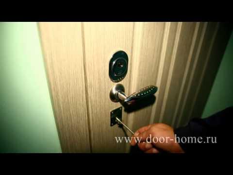 монтаж металлические двери с зеркалом