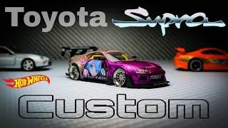 Toyota Supra MK4 Pandem Itasha Hot Wheels Custom