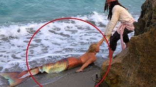 She finds Real Life Mermaid... Then This Happens...
