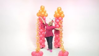 Princess Castle Entryway From Balloons - DIY Tutorial