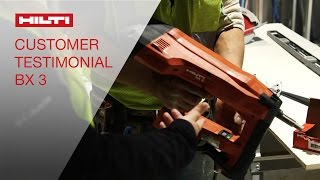 Hilti BX 3 Battery-actuated tool - Customer Testimonial