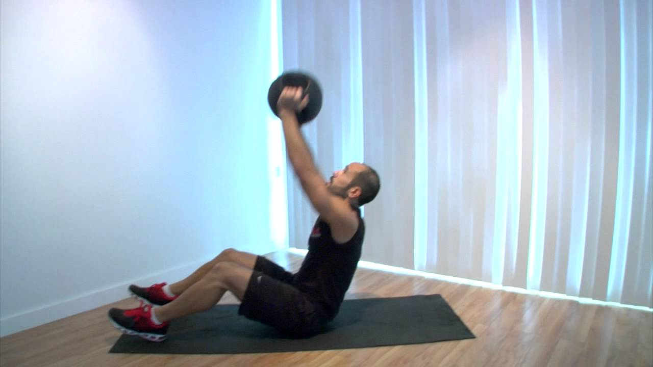 Medicine Ball Sit Incline Press Full Body Exercise