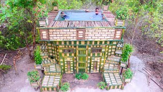 Amazing Build Swimming Pool Using Wooden Brick On Villa House bamboo