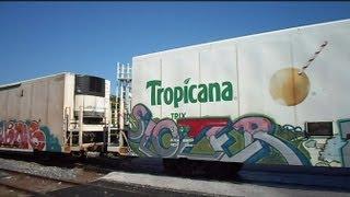 CSX Juice Train Arrives At Tropicana Plant Bradenton Florida