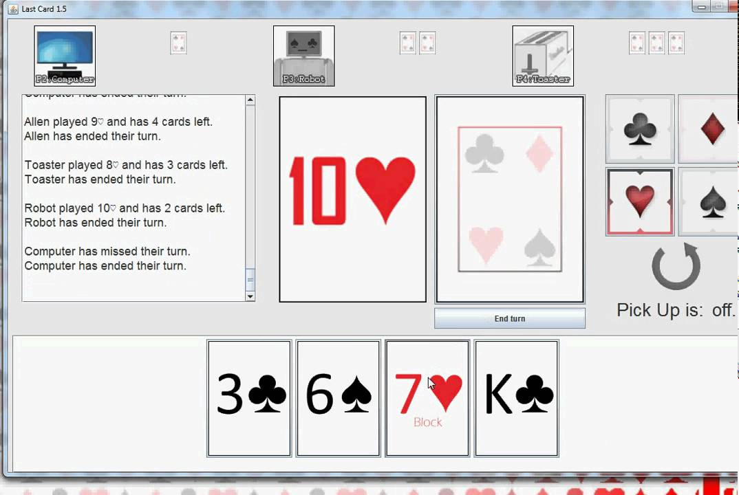 Java Trading Card Game Java Game Last Card