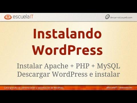Instalación de Wordpress sobre Windows y Mac