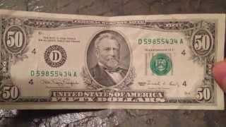 Recieved Old $50 Bill