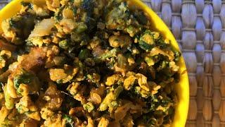 VRK Diet Palak Egg Bhurji | VRK Diet Egg Recipes | Veeramachaneni Diet Egg Recipes