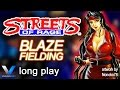STREETS OF RAGE / Bare Knuckle (Sega MD / Genesis) - BLAZE FIELDING Complete Playthrough