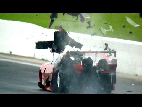 Pro Mod driver Jonathan Gray hits the Wall Hard in Houston #SpringNats