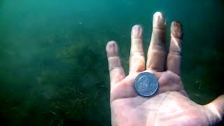 Metal Detecting Underwater Loads Of Coins And More